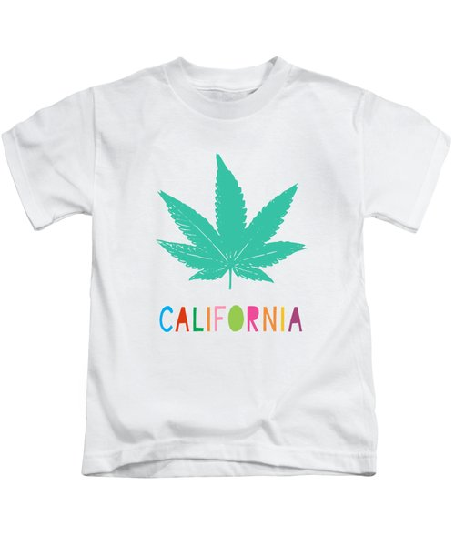 Colorful California Cannabis- Art By Linda Woods Kids T-Shirt