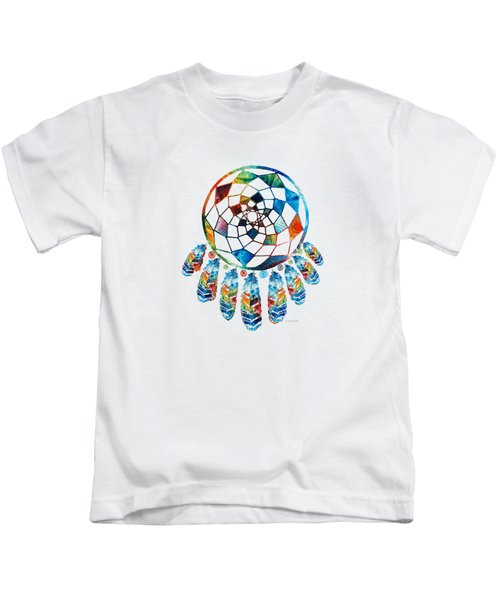 Colorful Dream Catcher By Sharon Cummings Kids T-Shirt