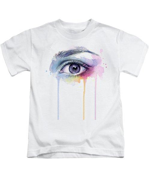 Colorful Dripping Eye Kids T-Shirt