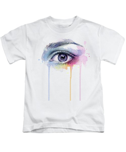 Colorful Dripping Eye Kids T-Shirt