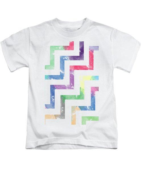 Colorful Geometric Patterns Vi Kids T-Shirt by Amir Faysal