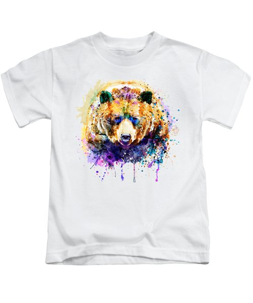 Colorful Grizzly Bear Kids T-Shirt