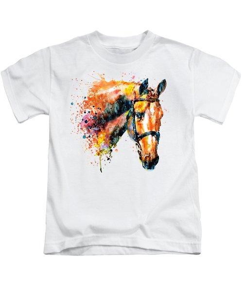 Colorful Horse Head Kids T-Shirt