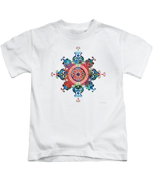 Colorful Pattern Art - Color Fusion Design 3 By Sharon Cummings Kids T-Shirt