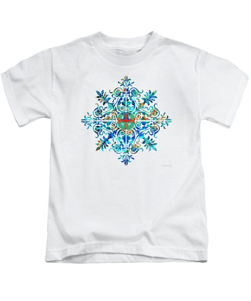 Colorful Pattern Art - Color Fusion Design 5 By Sharon Cummings Kids T-Shirt