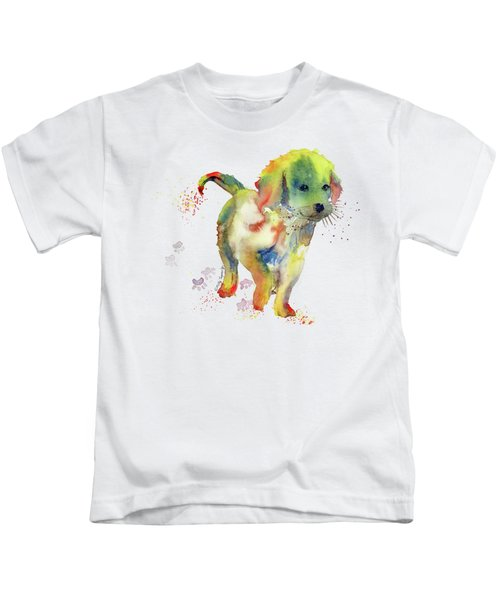 Colorful Puppy Watercolor - Little Friend Kids T-Shirt