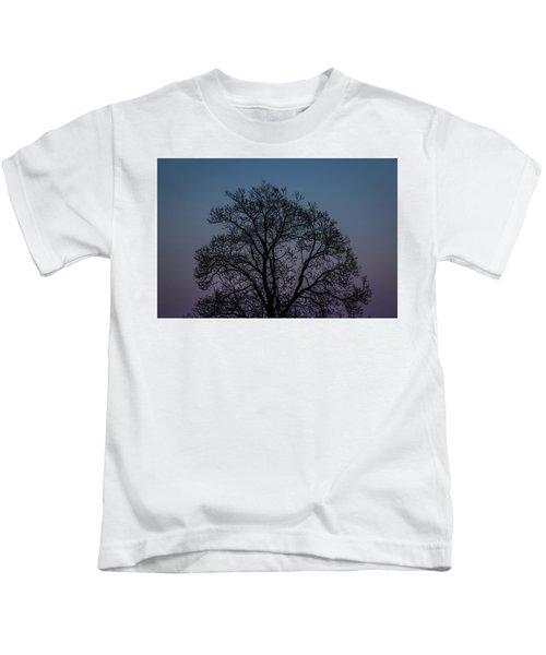 Colorful Subtle Silhouette Kids T-Shirt