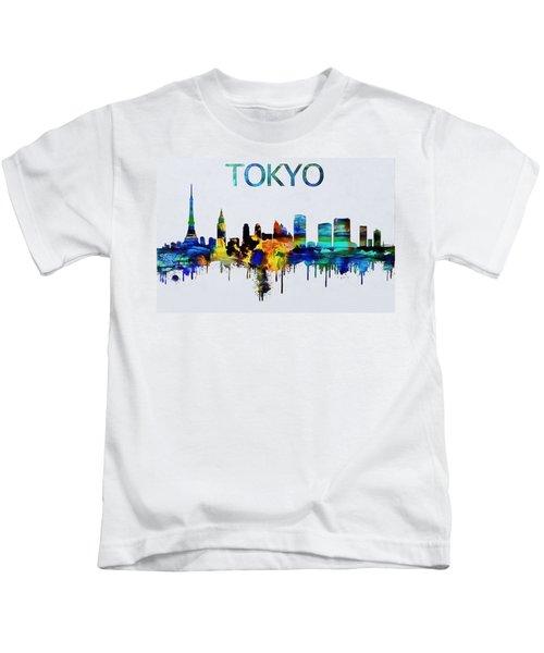 Colorful Tokyo Skyline Silhouette Kids T-Shirt