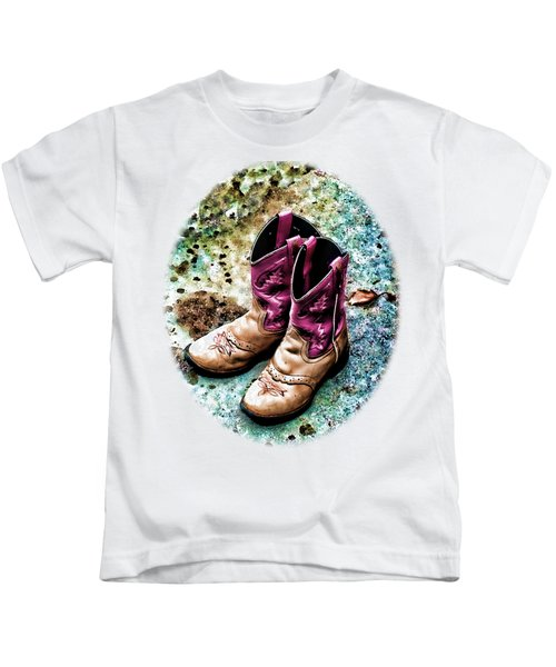 Colors Of A Cowgirl Oval White Kids T-Shirt