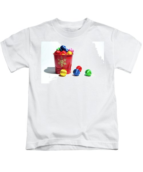 Coloured Baubles In A Pot Kids T-Shirt