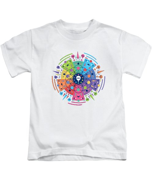 Colourful Of Stars Kids T-Shirt