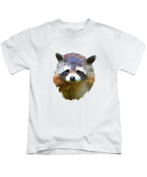 Colourful Raccoon Kids T-Shirt by Bamalam  Photography