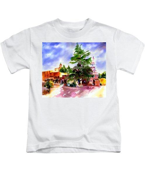Commercial Street, Old Town Auburn Kids T-Shirt