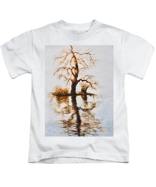 Como Lake Reflections Kids T-Shirt