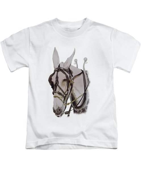 Connie The Mule Kids T-Shirt by Gary Thomas