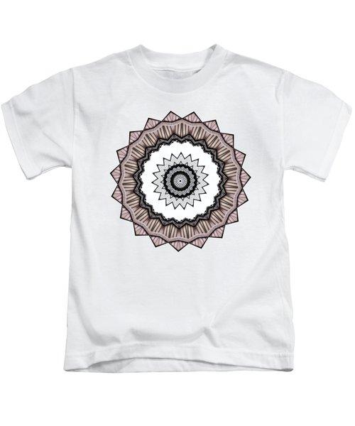 Construction Mandala By Kaye Menner Kids T-Shirt by Kaye Menner