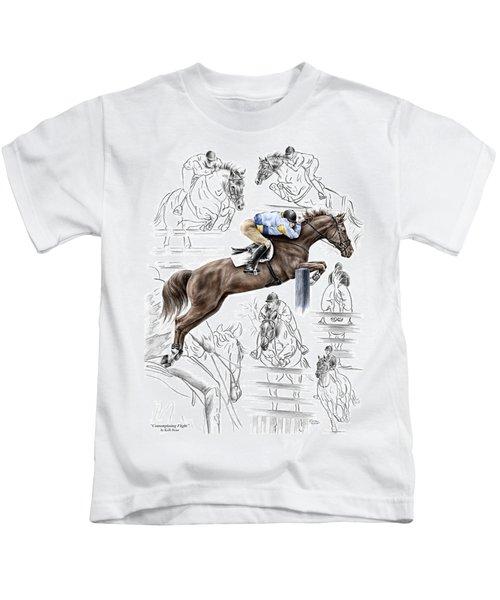 Contemplating Flight - Horse Jumper Print Color Tinted Kids T-Shirt