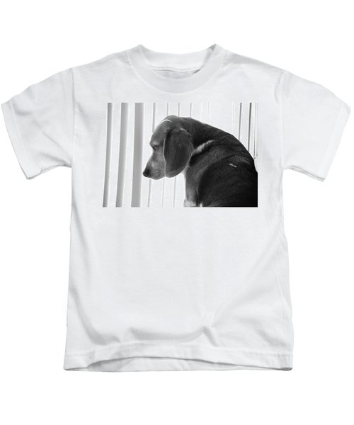 Contemplative Beagle Kids T-Shirt
