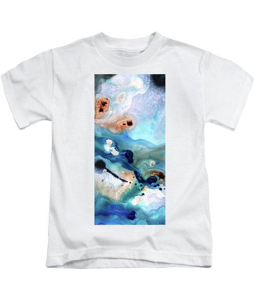 Contemporary Abstract Art - The Flood - Sharon Cummings Kids T-Shirt