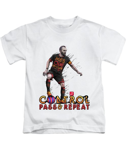 Control Pass And Repeat Kids T-Shirt by Akyanyme