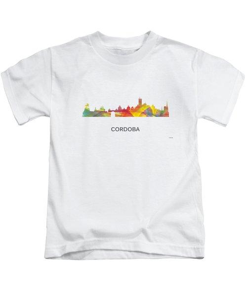 Cordoba Argentina Skyline Kids T-Shirt