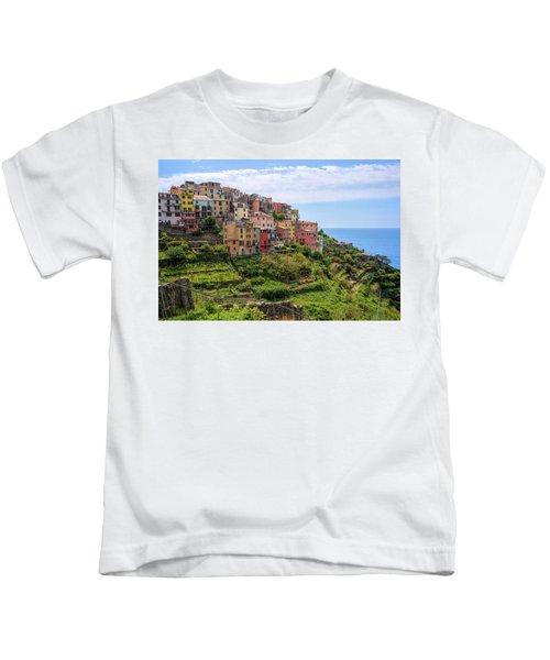 Corniglia Cinque Terre Italy Kids T-Shirt
