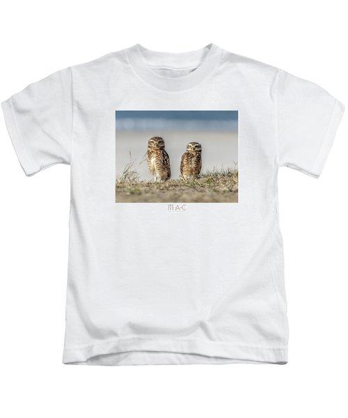 Coruja Buraqueira-praia Do Forte Kids T-Shirt