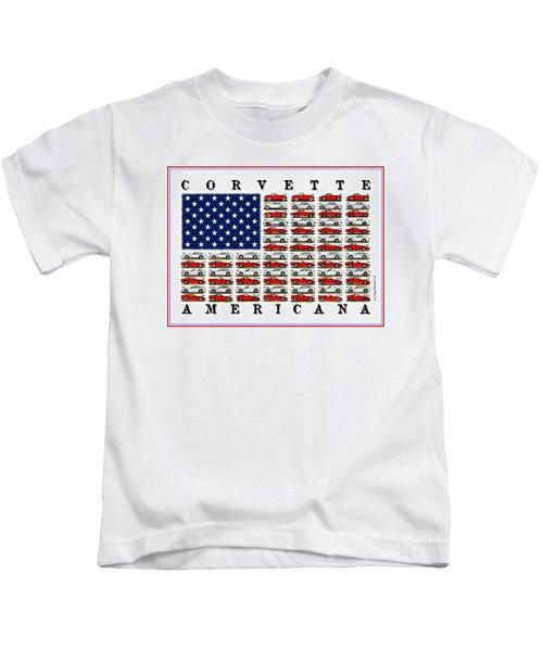 Corvette Americana Kids T-Shirt