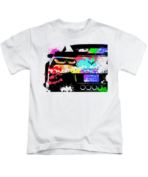 Corvette Pop Art 1 Kids T-Shirt