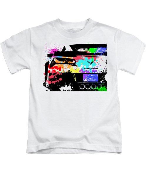 Corvette Pop Art 1 Kids T-Shirt