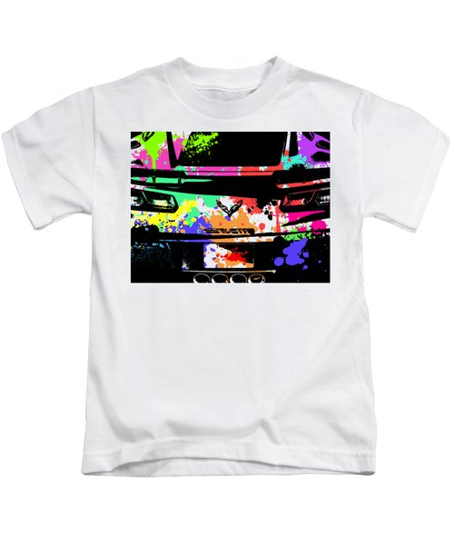 Corvette Pop Art 2 Kids T-Shirt