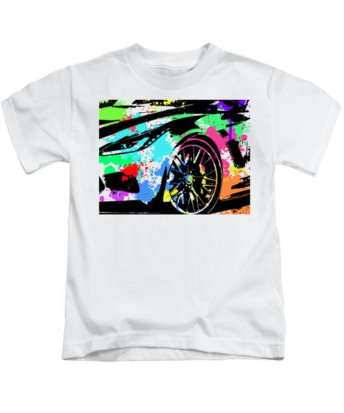 Corvette Pop Art 3 Kids T-Shirt