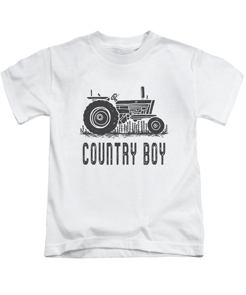 Country Boy Tractor Tee Kids T-Shirt