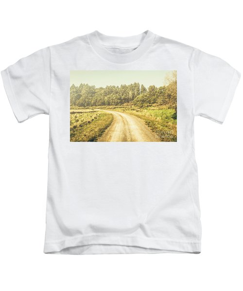 Countryside Road In Outback Australia Kids T-Shirt