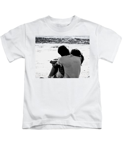 Couple On Beach Kids T-Shirt