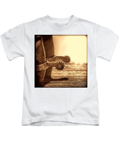 Cowboy Boots And Riding Spurs Kids T-Shirt