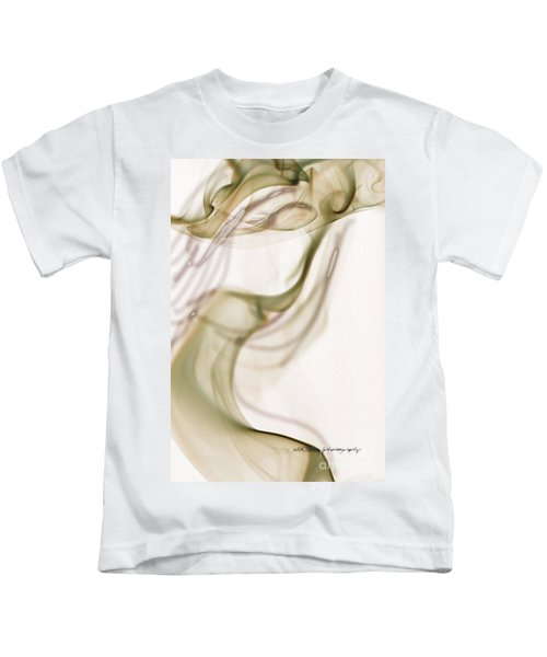 Coy Lady In Hat Swirls Kids T-Shirt