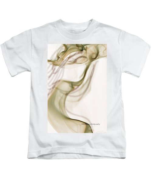 Coy Lady In Hat Swirls Kids T-Shirt