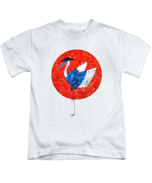Crane Kids T-Shirt by Daryna Skulska