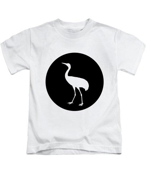 Crane Kids T-Shirt by Mordax Furittus