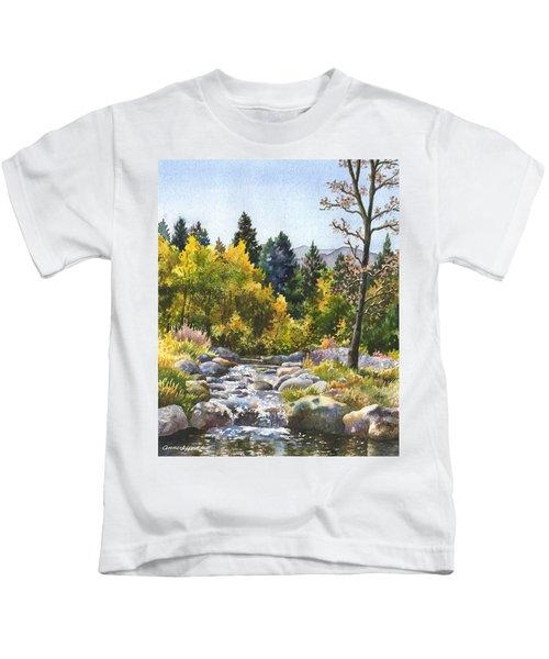 Creek At Caribou Kids T-Shirt