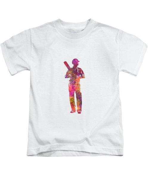 Cricket Player Batsman Silhouette 10 Kids T-Shirt