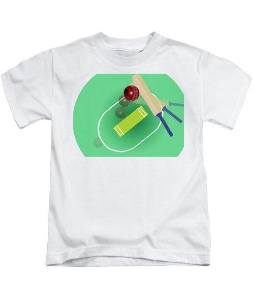 Cricket Kids T-Shirt by Smita Kadam