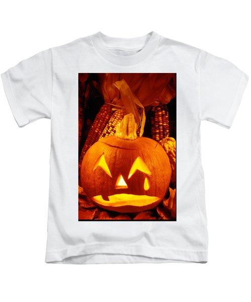 Crying Pumpkin Kids T-Shirt