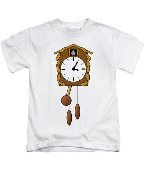 Cuckoo Clock Kids T-Shirt by Miroslav Nemecek