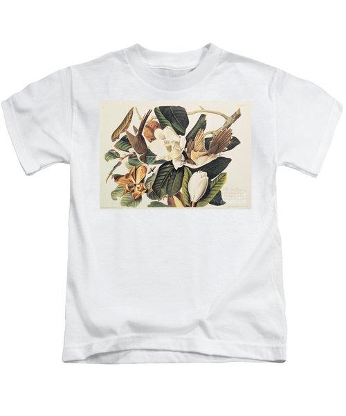 Cuckoo On Magnolia Grandiflora Kids T-Shirt