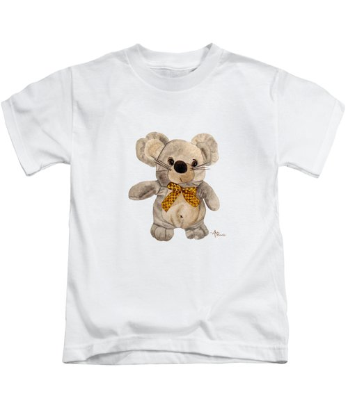 Cuddly Mouse Kids T-Shirt by Angeles M Pomata