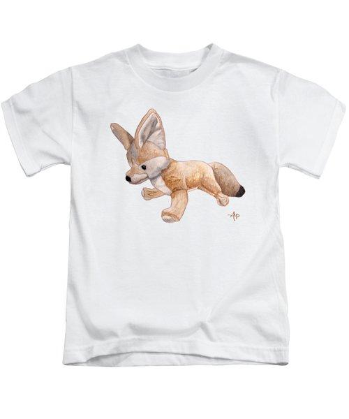 Cuddly Snow Fox Kids T-Shirt