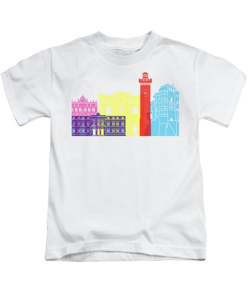 Cuenca Skyline Pop Kids T-Shirt