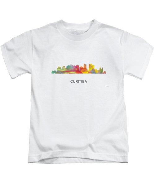 Curitiba Brazil Skyline Kids T-Shirt